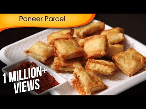 Paneer Parcel – Quick Easy To Make Party Starter / Crispy Snack Recipe By Ruchi Bharani