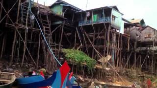 River Stilt Houses In Cambodia