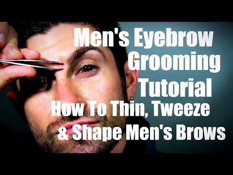 how to trim eyebrow men