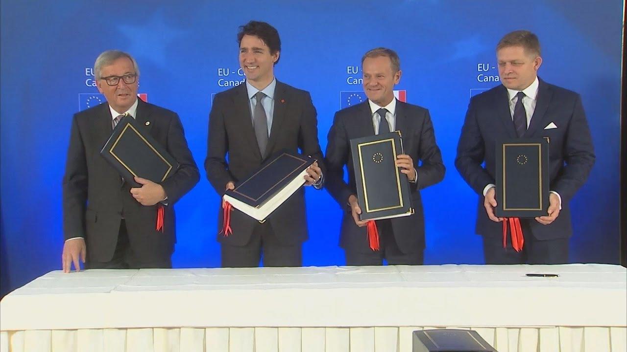 Υπογράφτηκε η συμφωνία ελεύθερου εμπορίου ΕΕ-Καναδά
