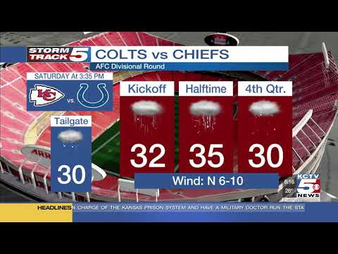 Wintery mix possible for Chiefs playoff game Saturday