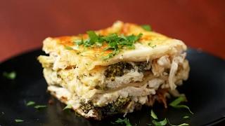 Creamy Broccoli Chicken Alfredo Lasagna by Tasty