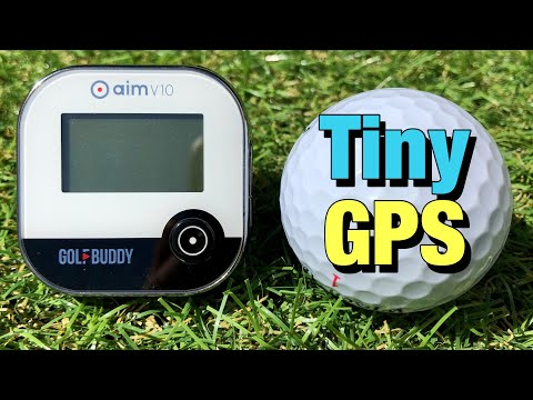 GOLFBUDDY AIM V10 REVIEW - ONE OF THE SMALLEST GOLF GPS YOU CAN BUY!