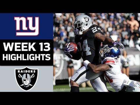 Video: Giants vs. Raiders | NFL Week 13 Game Highlights