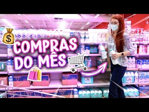 COMPRAS DO MÊS COMPLETA NO MERCADO | QUANTO GASTEI ESTE MÊS?