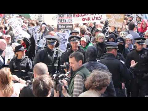 mightyalz - Socialists, activists and anarchists have a fun day out with the cops in London...