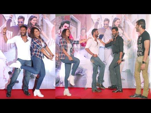Ajay ,Sonakshi, Prabhu Deva At Movie Action Jackson Keeda Song Launch
