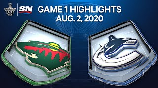 NHL Highlights | Wild vs. Canucks, Game 1 – Aug. 2, 2020 by Sportsnet Canada