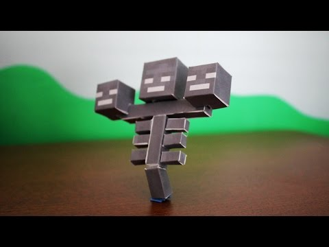 How to make the Minecraft Paper Wither