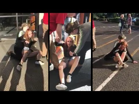 Girl manhandled by security for stealing candy bar