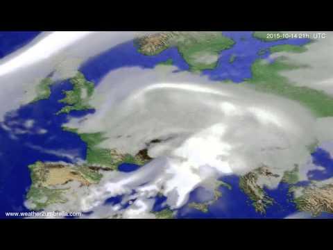 Cloud forecast Europe 2015-10-11