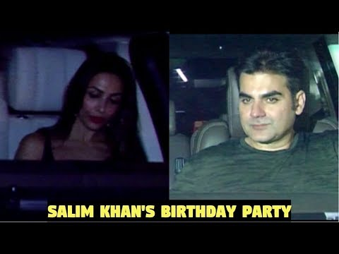Arbaaz Khan & Malaika Arora Attends Father Salim Khan's Birthday Bash At Galaxy Apts