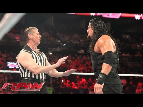 Reigns vs. Sheamus - Mr. McMahon Guest Ref. for WWE World Heavyweight Title: Raw, Jan. 4, 2015