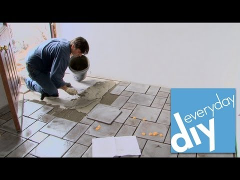 How do you install ceramic floor tile
