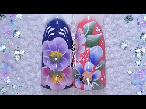 Decoraciones de uñas one stroke/Diseño de uñas carga duple/diseños de uñas a mano alzada