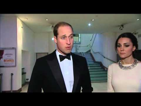 associated press - As word of Nelson Mandela's death spread Thursday, Prince William and his wife, Kate, were attending the London film premiere of