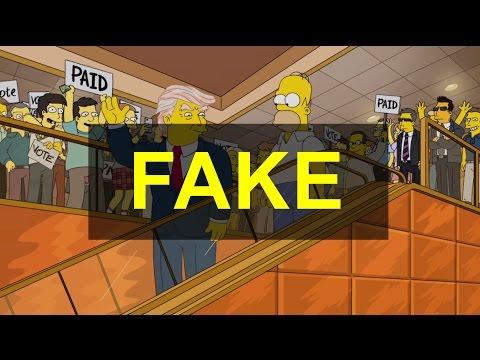 Simpsons Vorhersage - Falschmeldung