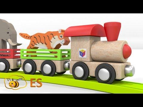 Video Los animales salvajes para niños. Los trenes para niños. Dibujos animados en español download in MP3, 3GP, MP4, WEBM, AVI, FLV January 2017