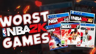Five Worst NBA 2k Games Of All Time!!