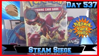 Pokemon Pack Daily Steam Siege Booster Opening Day 537 - Featuring SwinubOpens by ThePokeCapital