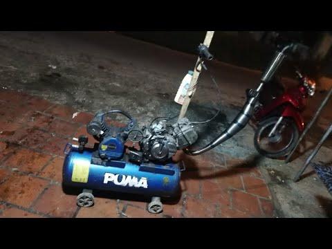 Tháo máy xìpo 120 chế thành máy bơm hơi! ( Manufacturing air pump with suzuki sport machine 120) - Thời lượng: 10:59.