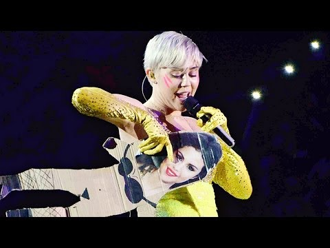 fu - Miley Cyrus Tells Selena Gomez FU. She dissed Selena at a performance and there have been rumors of a feud between the two ▻ http://bit.ly/ENTVSubscribe Watc...