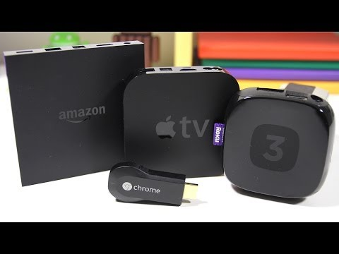 Apple TV - Amazon Fire TV vs Apple TV vs Roku 3 vs Google Chromecast - Full Comparison The race to claim a spot in your living room is on! Apple, Google, Roku, and now Amazon are all on board. Watch...