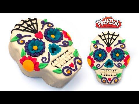 How to Make Day of the Dead Sugar Skull, Dia de los Muertos Calavera. DIY Clay, Dough. Art and Craft