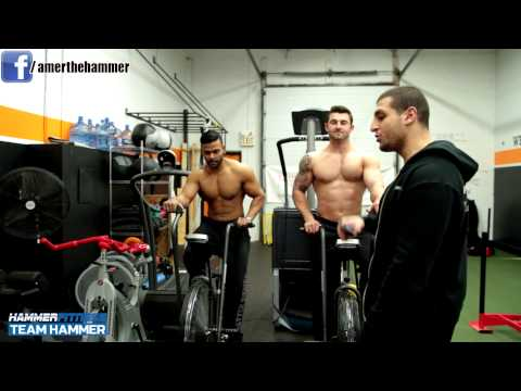 Fat Loss - http://hammerfitness.com Amer Kamra shows you how to properly perform HIIT on an AirDyne Bike and explains the benefits of doing HIIT. HIIT increases your me...