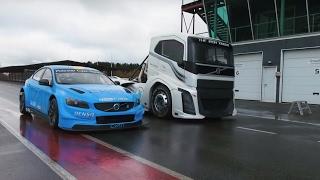 Co za petarda! Najszybsza ciężarówka świata Iron Knight vs sportowe Volvo S60 Polestar TC1!