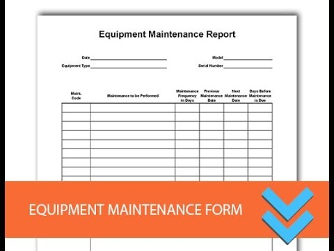 Free Equipment Maintenance Log Form - Freedform.com (видео)