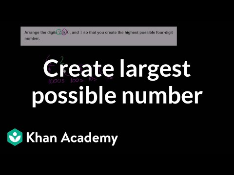 Creating the largest number (video) | Khan Academy