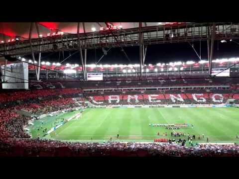 Mosaico da torcida do Flamengo no jogo contra o San Lorenzo pela Libertadores da América - Nação 12 - Flamengo