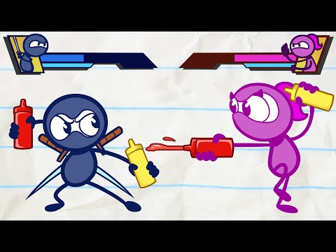 Ninja Pencilmate Defeats a Sandwich Monster - Thời lượng: 24 phút.