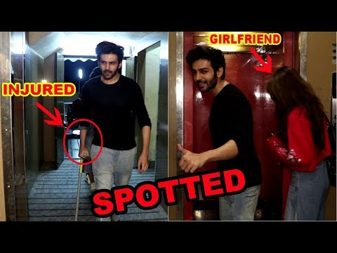 INJURED Kartik Aaryan Spotted At Juhu PVR With His Girlfriend