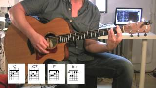 """Play The Game"" Acoustic Guitar, original vocal track, chord diagrams"