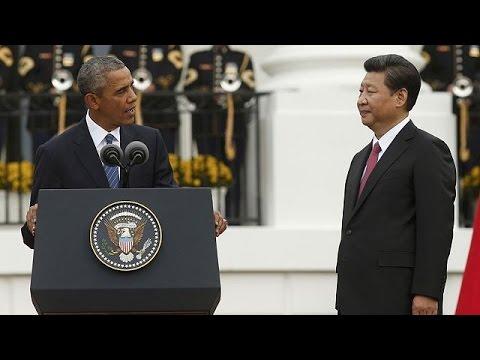 ΗΠΑ: Ο Κινέζος Πρόεδρος στο Λευκό Οίκο – Θερμή υποδοχή Ομπάμα