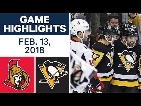 Video: NHL Game Highlights | Senators vs. Penguins - Feb. 13, 2018