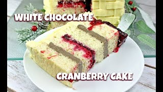 White Chocolate Cranberry Cake    Gretchen's Bakery by Gretchen's Bakery