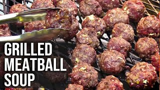 Grilled Meatball Soup by BBQ Pit Boys
