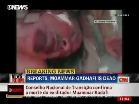 Vídeo mostra corpo de Kadhafi