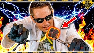 """This is how mad scientists start their BBQs for grilling.  With high voltage electricity!Subscribe & """"Ring the Bell"""": https://goo.gl/618xWmCharcoals: http://amzn.to/2uTcQnqBlack Nitrite Gloves: http://amzn.to/2nhR8snGrill: http://amzn.to/2tVizMuSee What Else I'm Up To:Instagram: https://goo.gl/C0Q1YUFacebook: https://goo.gl/EWo7S7Pinterest: https://goo.gl/Gbffq4Business Inquiries: For sponsorship requests or business opportunities please contact me directly: https://goo.gl/4Yiy43Music by: Otto Wallgren - """"Indian Summer (Instrumental Version)""""Royalty Free Music from Epidemic Sound: https://goo.gl/jlJWJOWARNING:This video is only for entertainment purposes. If you rely on the information portrayed in this video, you assume the responsibility for the results. Have fun, but always think ahead, and remember that every project you try is at YOUR OWN RISK.✌️👑  RANDOM NATION: TRANSLATE this video and you'll GET CREDIT! Click Here: https://goo.gl/v7XLF3Want credit TRANSLATING other videos? Click Here to see where else you can contribute: https://goo.gl/DmpwbqTHANK YOU!! ✌️👑"""