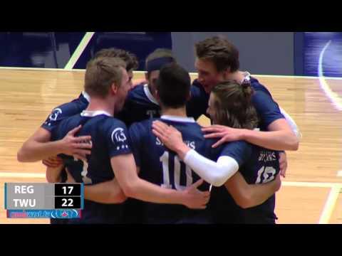 2015-11-13 TWU Men's Volleyball Highlights vs Regina