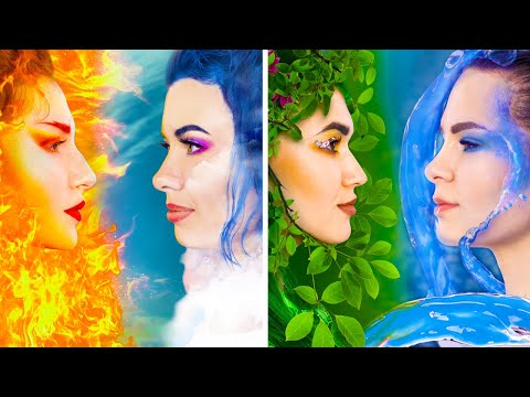 Fire Girl, Water Girl, Air Girl and Earth Girl/ Four Elements Birthday Party!