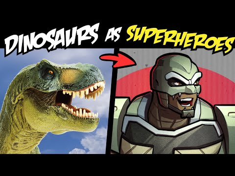 What if DINOSAURS Were SUPERHEROES?! (Stories & Speedpaint)