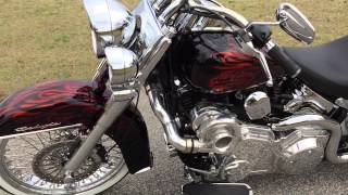 5. 2009 Harley Davidson FLSTN Softail Deluxe Pro Charger 106hp dyno for sale 706-731-1899