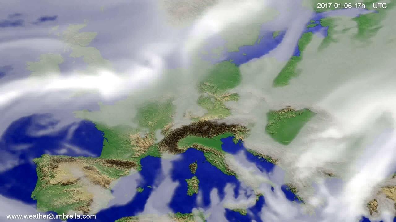 Cloud forecast Europe 2017-01-04