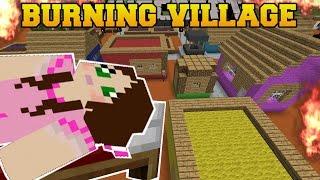 Nonton Minecraft: BURNING VILLAGE! (BUILD TO SURVIVE CHALLENGE!) Mini-Game Film Subtitle Indonesia Streaming Movie Download