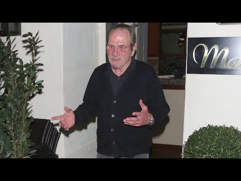 Tommy Lee Jones Nearly Blinded By Flashbulbs After Dinner In Beverly Hills