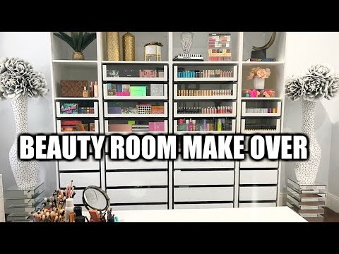 EXTREME BEAUTY ROOM MAKEOVER | TIME LAPSE  | MAKEUP ORGANIZATION